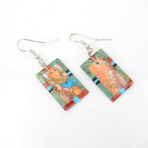 Sterling Silver Turquoise Inlay Earrings