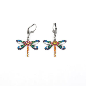 Rainbow Dragonfly Earrings