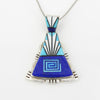 Sterling Silver Navajo Inlay Pendant