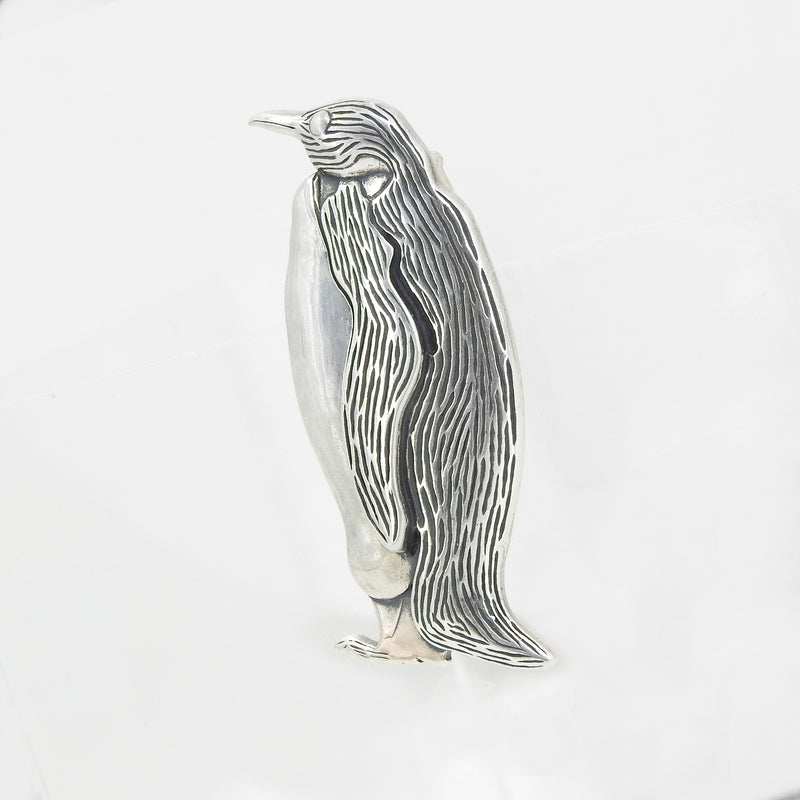 Sterling Silver Penguin Pin / Pendant