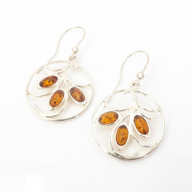 S/S Mixed Amber Hoop Earring