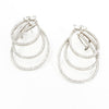 S/S 3 Pear Shape Open CZ Earring