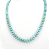 Sterling Silver #8 Mine Native American Turquoise Beaded Necklace