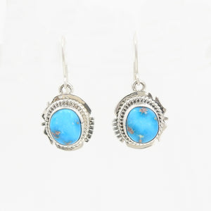Sterling Silver Sonoran Turquoise Earrings