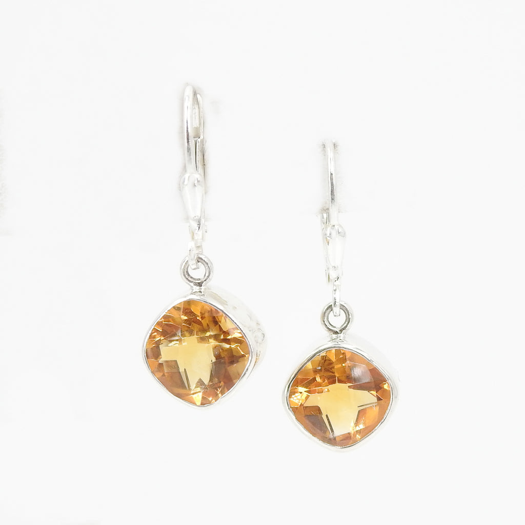S/S Faceted Citrine Earring