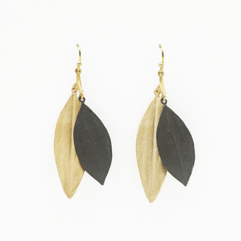 Cordyline Double Leaf Earrings