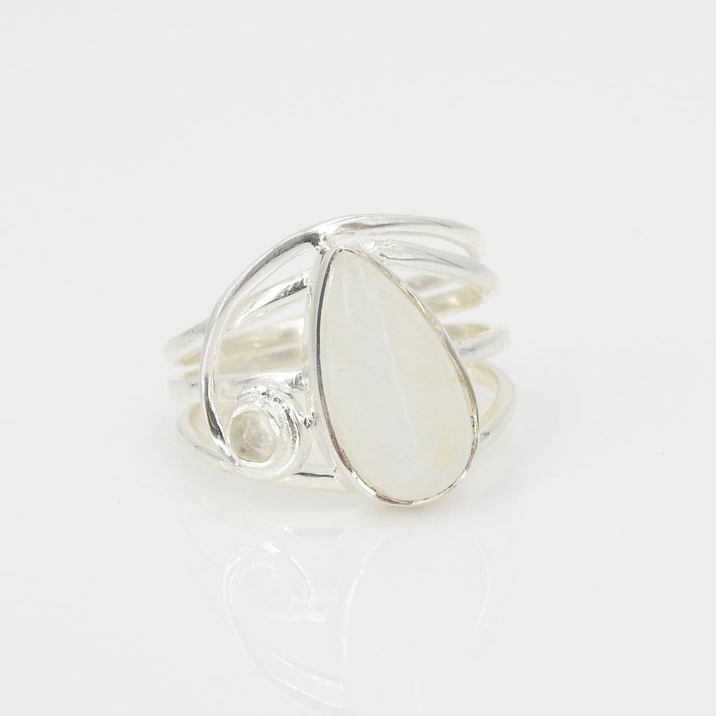 S/S Moonstone Ring SZ 9