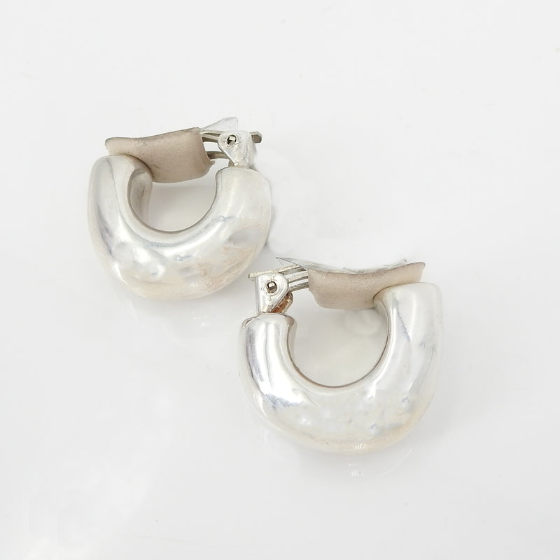 S/S Smooth Small Wide Clip Hoop Earring