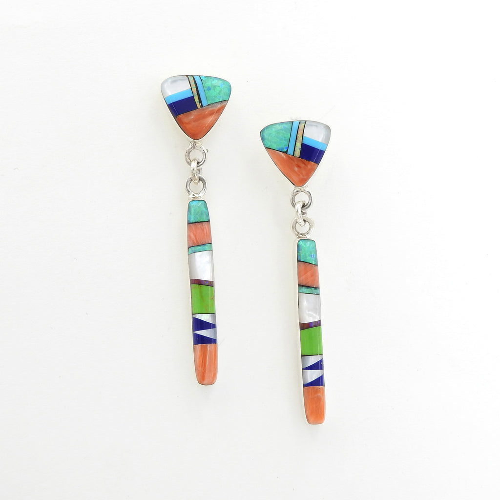 Sterling Silver Inlay Earrings