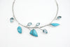 Sterling Silver Turquoise Leaf Necklace