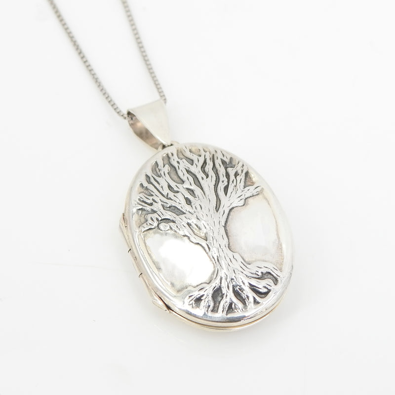S/S Tree of Life Locket Necklace