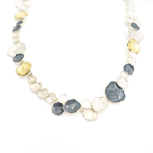 S/S Three-Tone Free Form Necklace