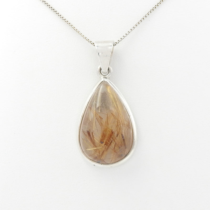 Sterling Silver Rutilated Quartz Pendant