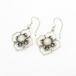 S/S Flower Created Opal Center