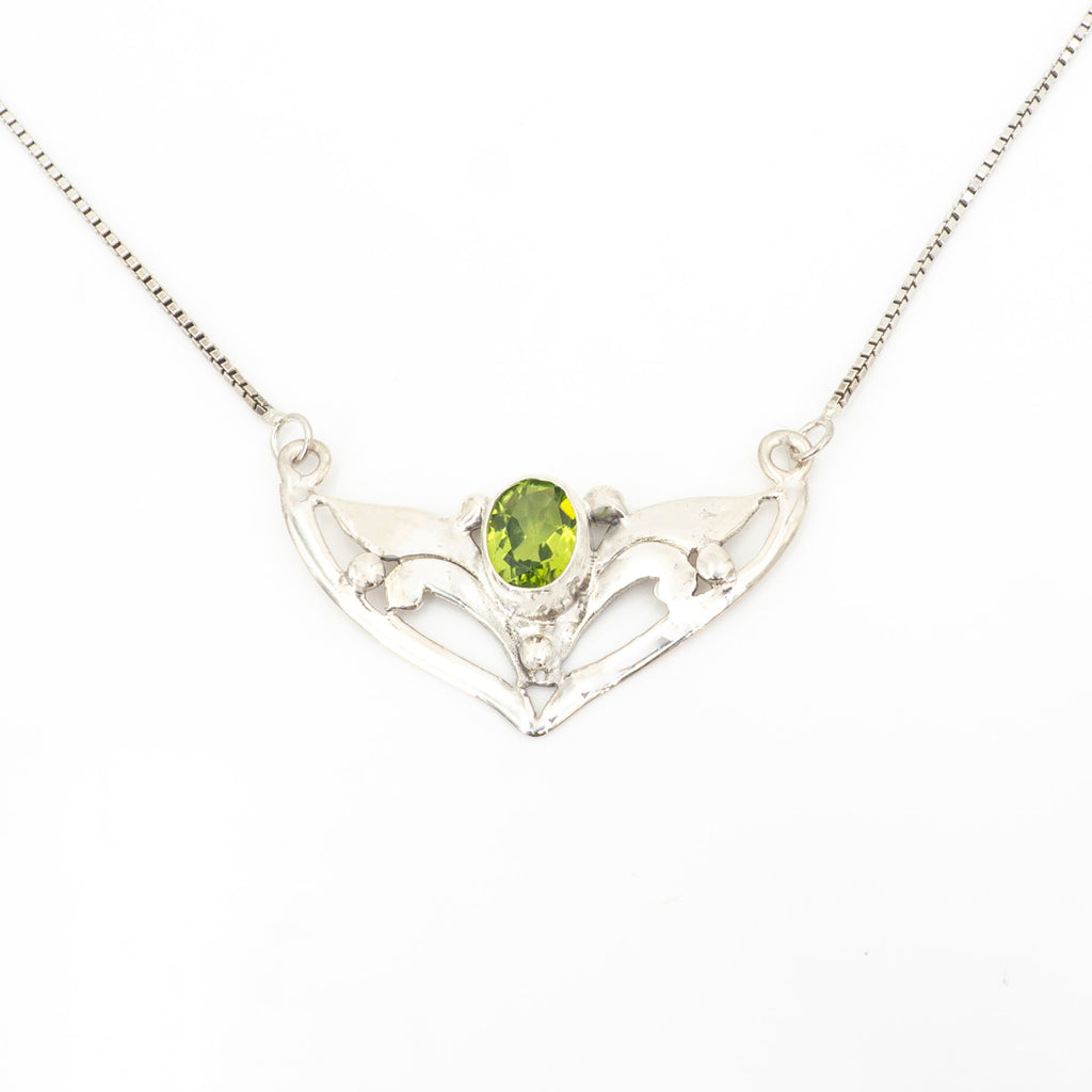S/S Peridot Necklace