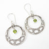 S/S Peridot Granulated Earring