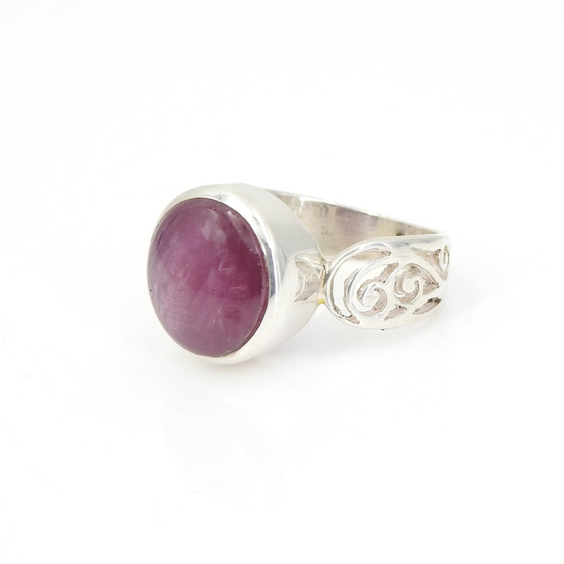 Sterling Silver Ruby Corundum Ring SZ 9