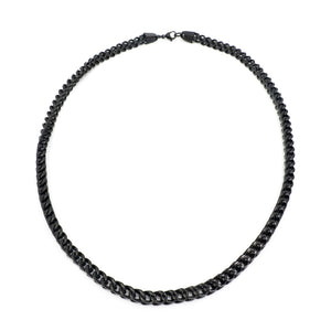 "22"" 6MM Black Stainless Steel Chain"
