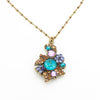 Multi Flower Cluster Necklace