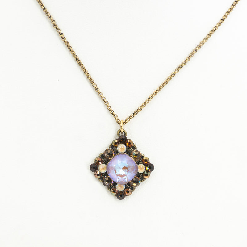 Multi Stone Square Necklace