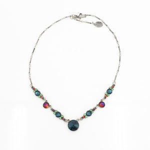 Vintage Multi Color Crystal Necklace