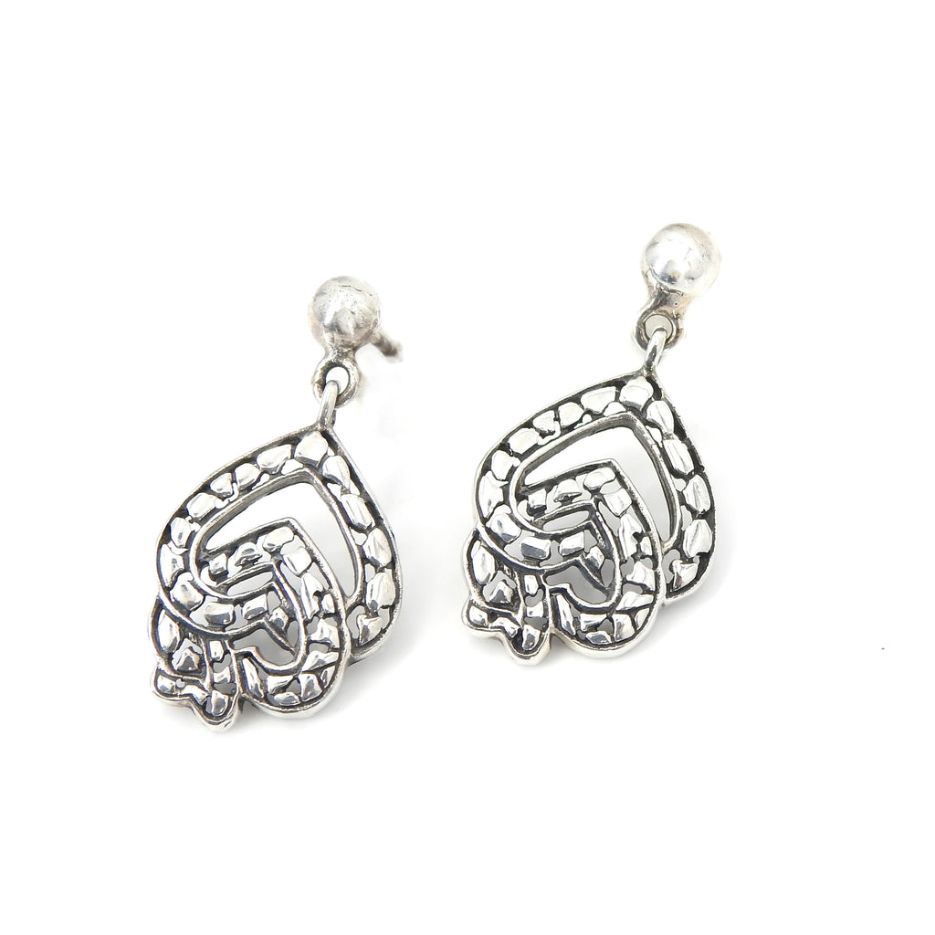 Sterling Silver Mulit Heart Earrings