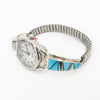 S/S Watch W Turquoise Opal Inlay