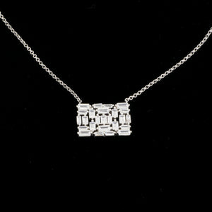 S/S Rectangle CZ Necklace