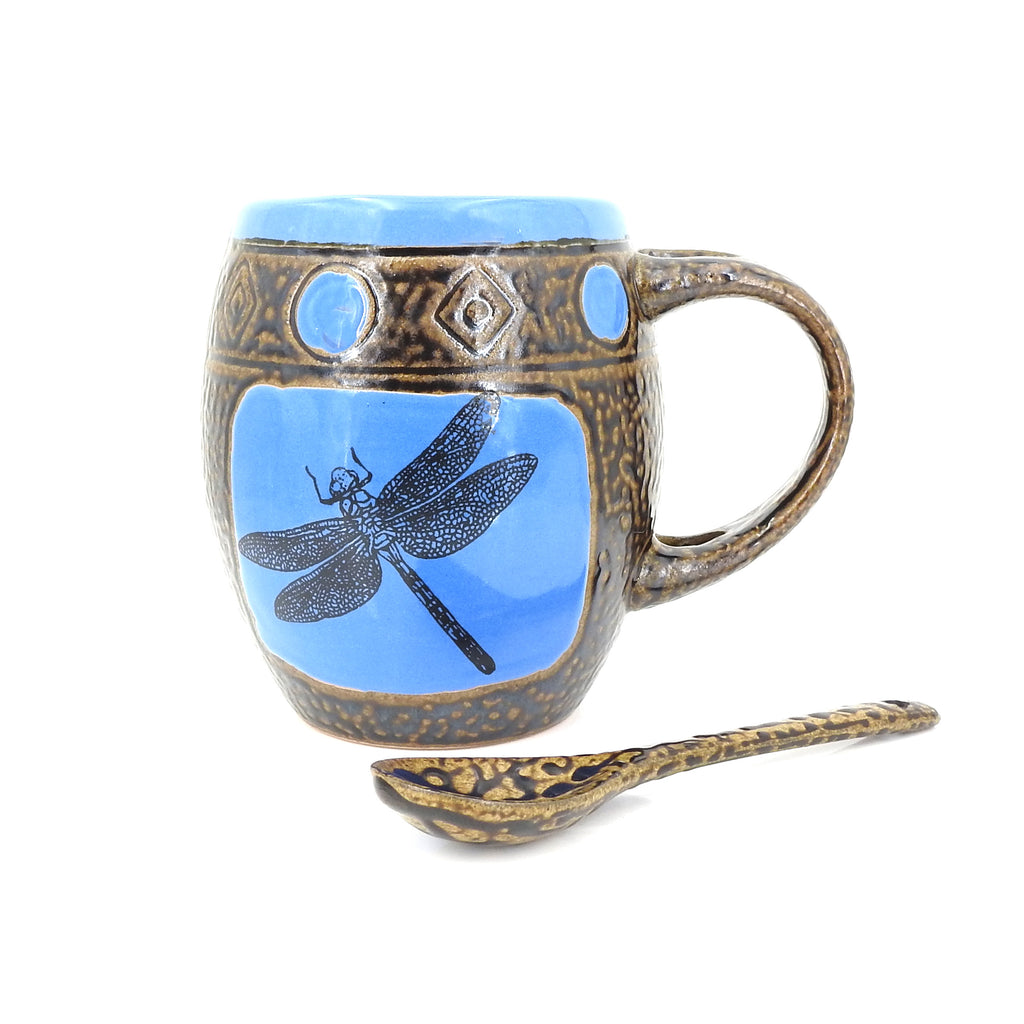 Blue Dragonfly Mug w/ Spoon