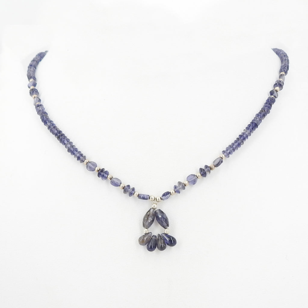Iolite Beaded Necklace