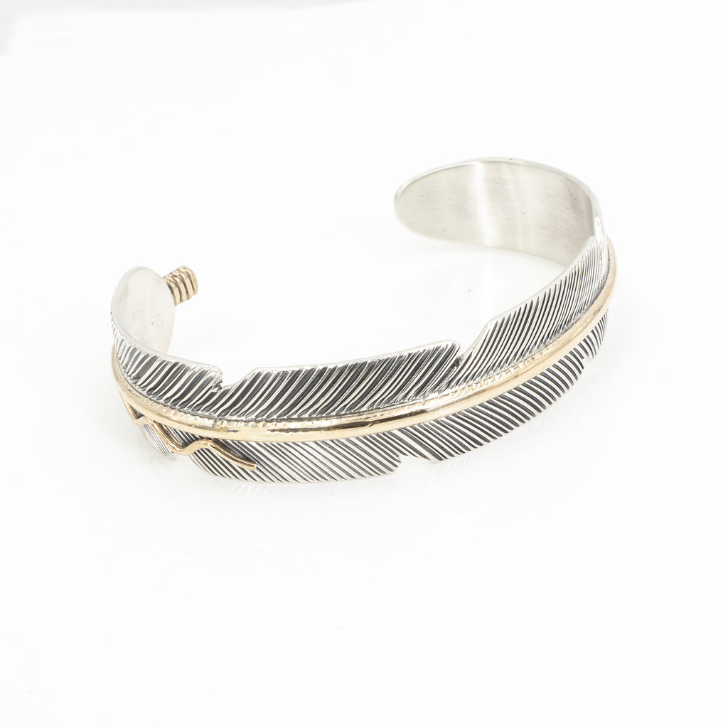 S/S Feather 12KT GF Cuff