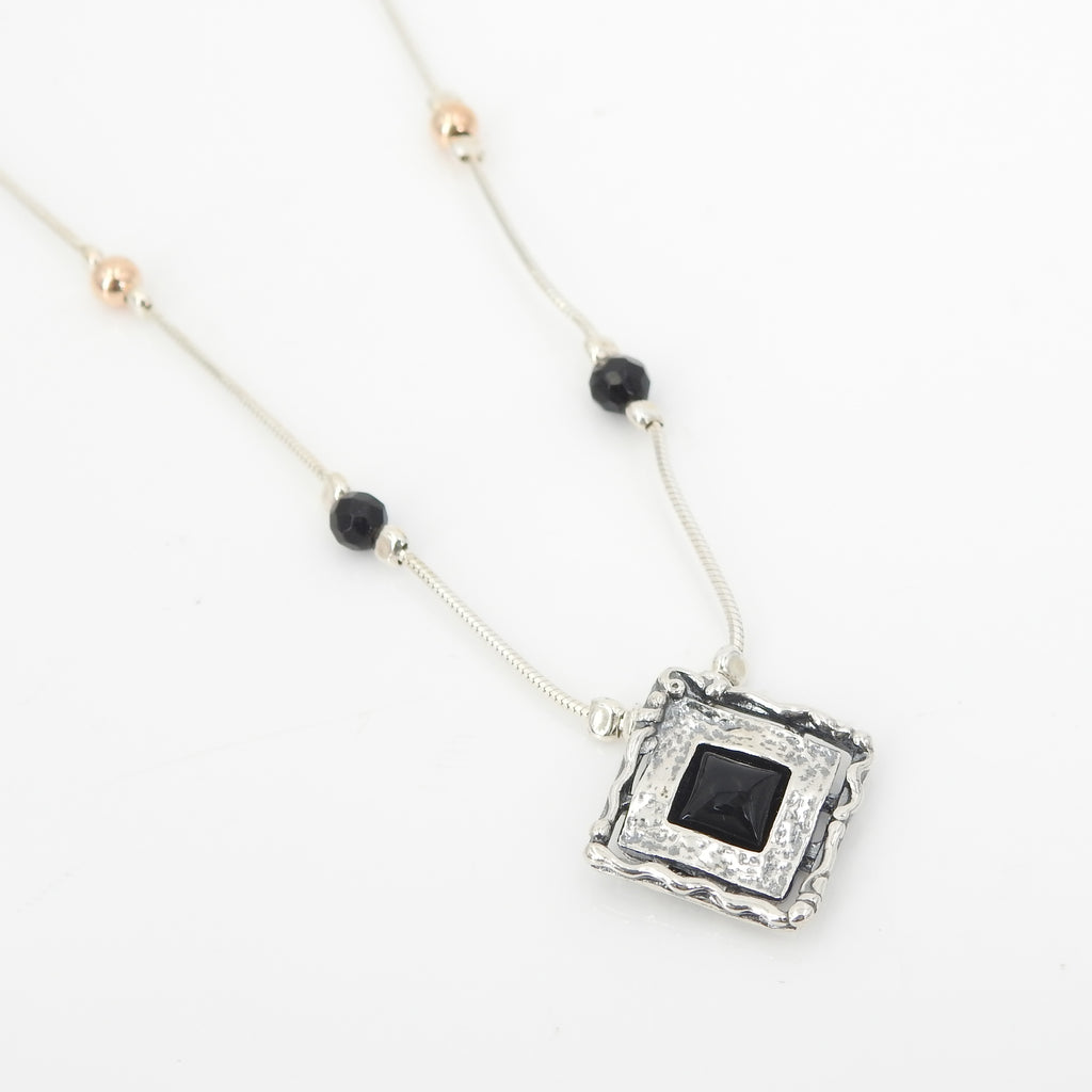 Sterling Silver Onyx Necklace