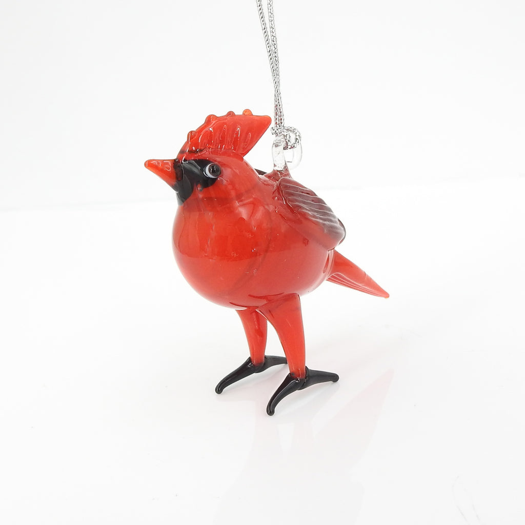 Red Cardinal Glass Ornament