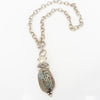 S/S Carved Scarab Necklace