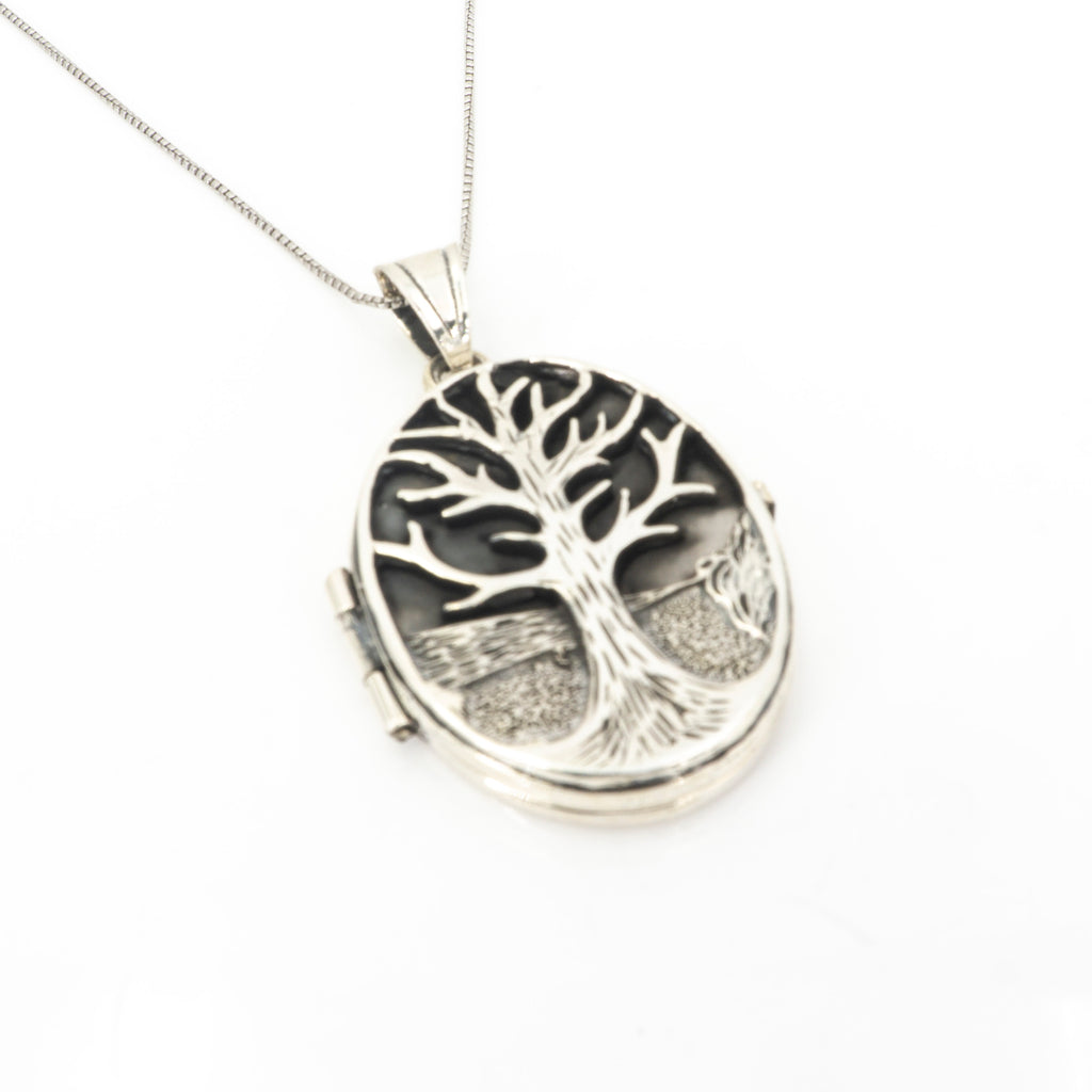 S/S Tree of Life Locket Pendant