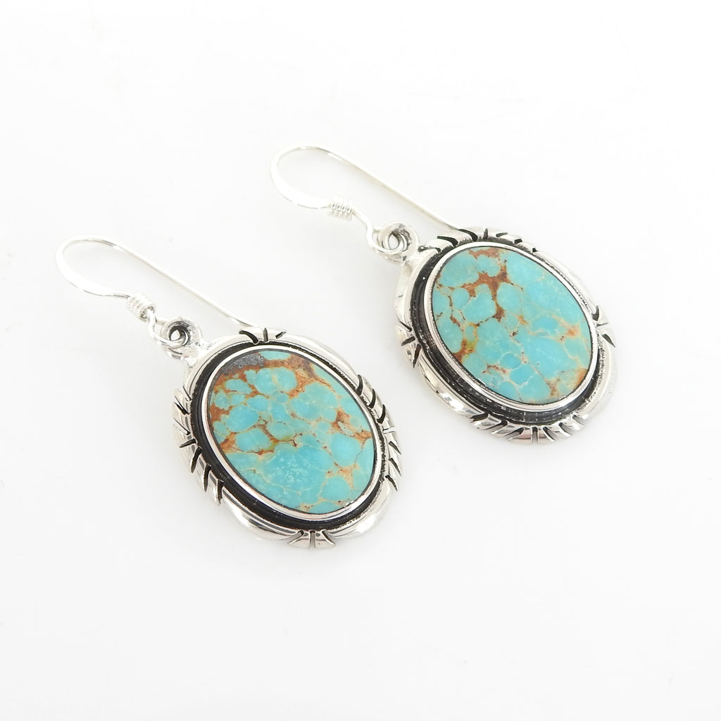 Sterling Silver Native American Turquoise Earring