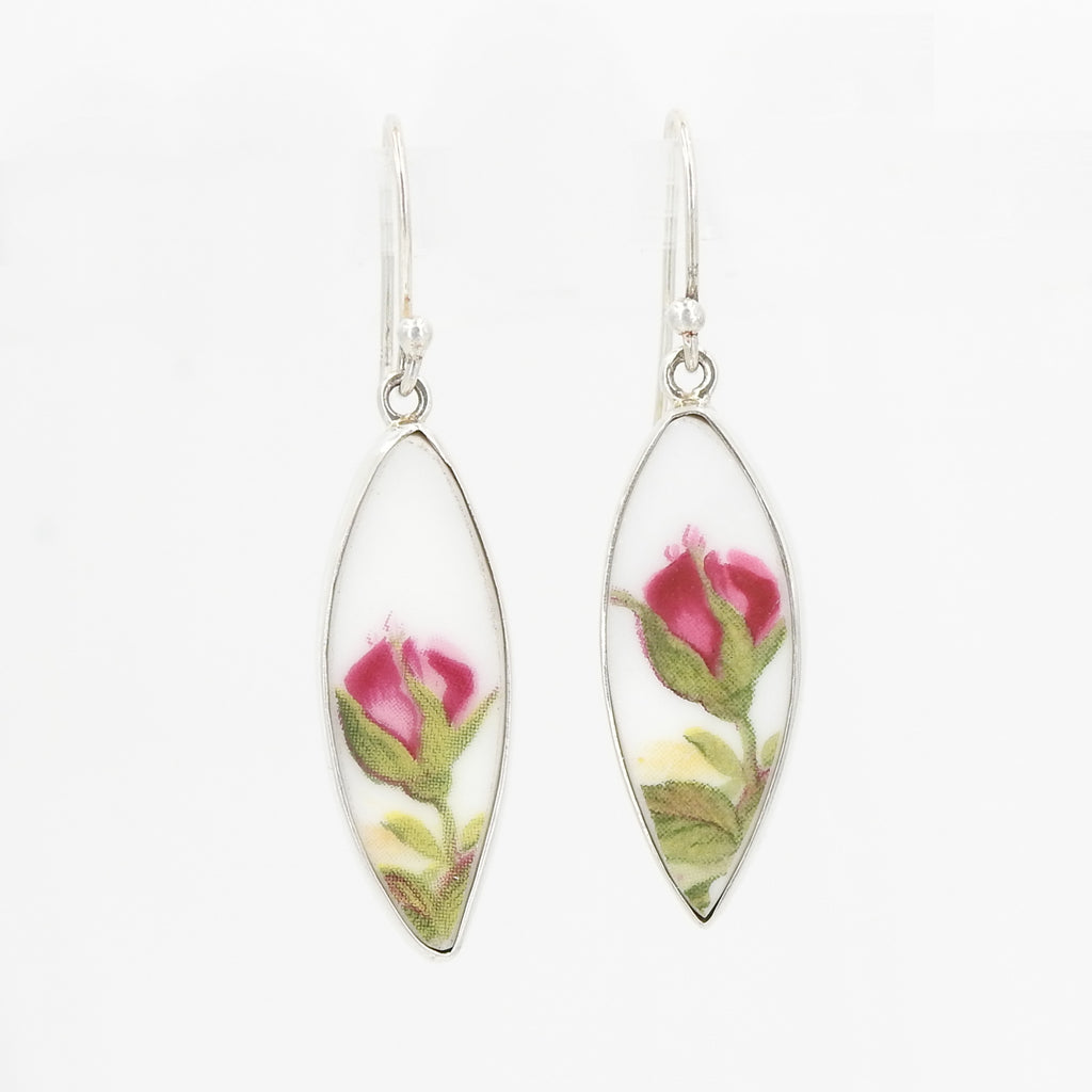 S/S Flower Ceramic Art Earrings