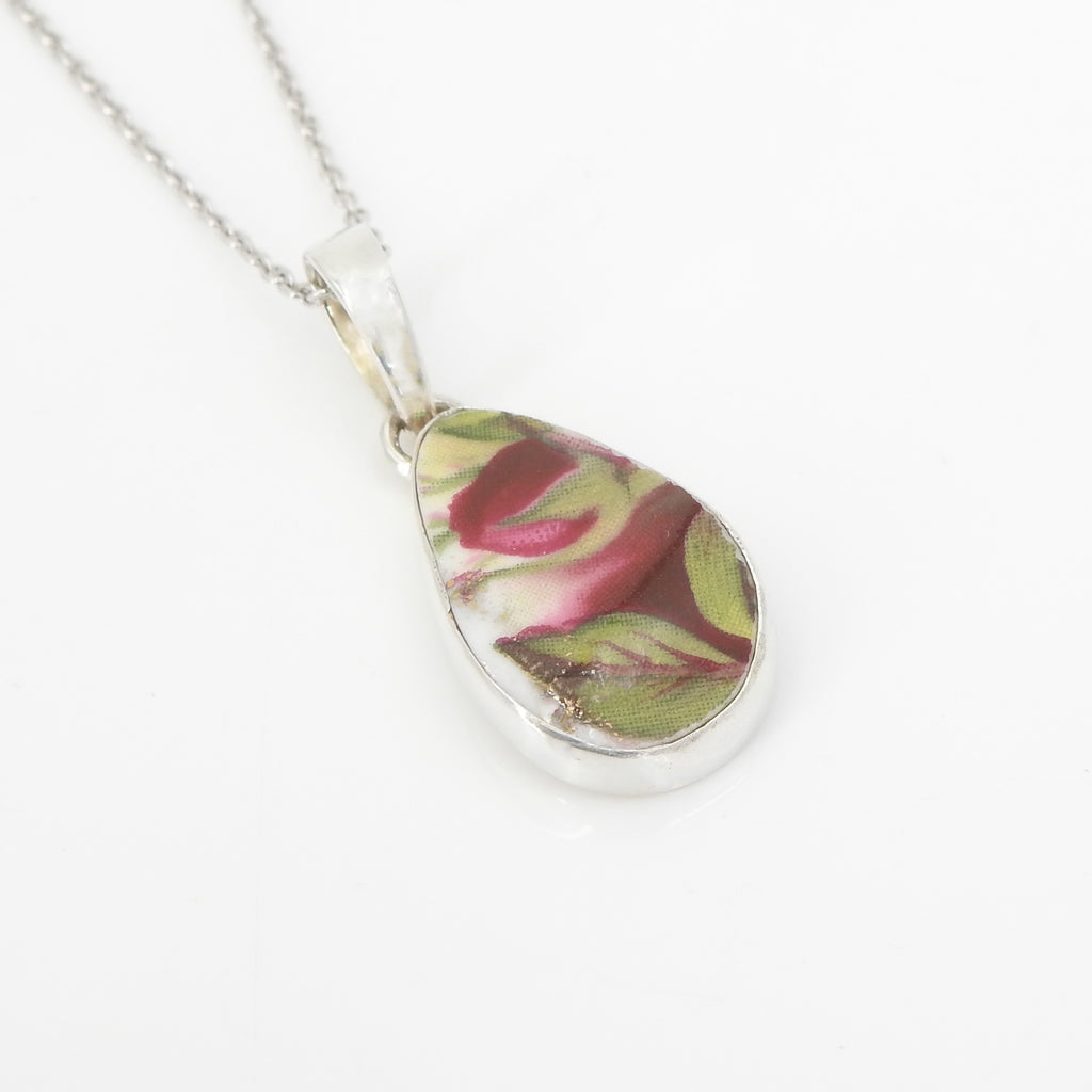 S/S Flower Ceramic Art Pendant
