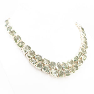 S/S Green Amethyst Necklace