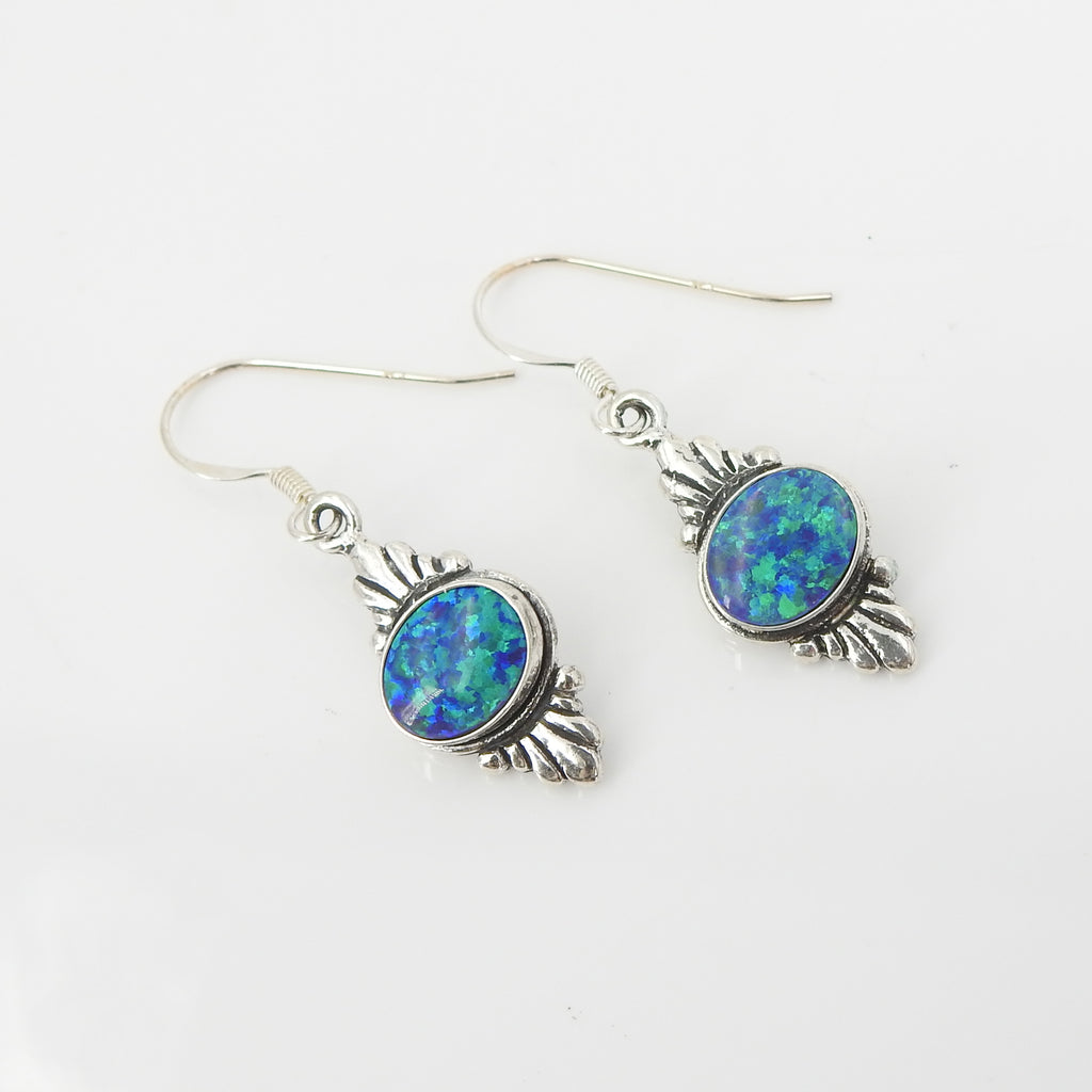 S/S Lab Opal Earrings