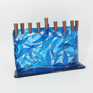 S Curve Glass Menorah