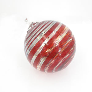 Red & Silver Glass Ornaments