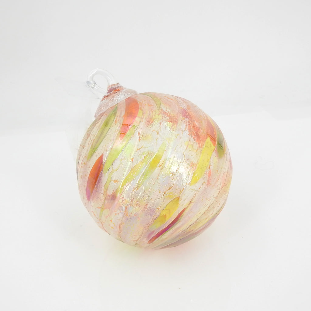 Peach Green Orange Swirl Ornament