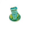 Pen Holder Green Swirl