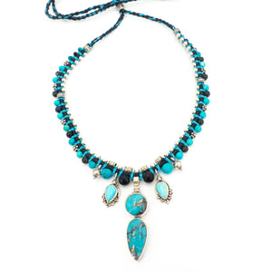 S/S Turquoise Knotwork Necklace