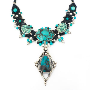 S/S 4 Turquoise Knotwork Necklace