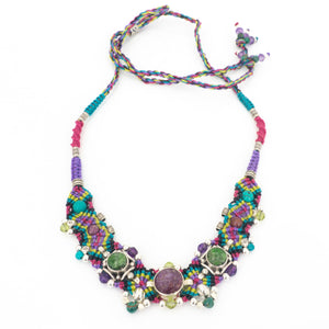 S/S Mixed Tourmaline Knotwork Necklace