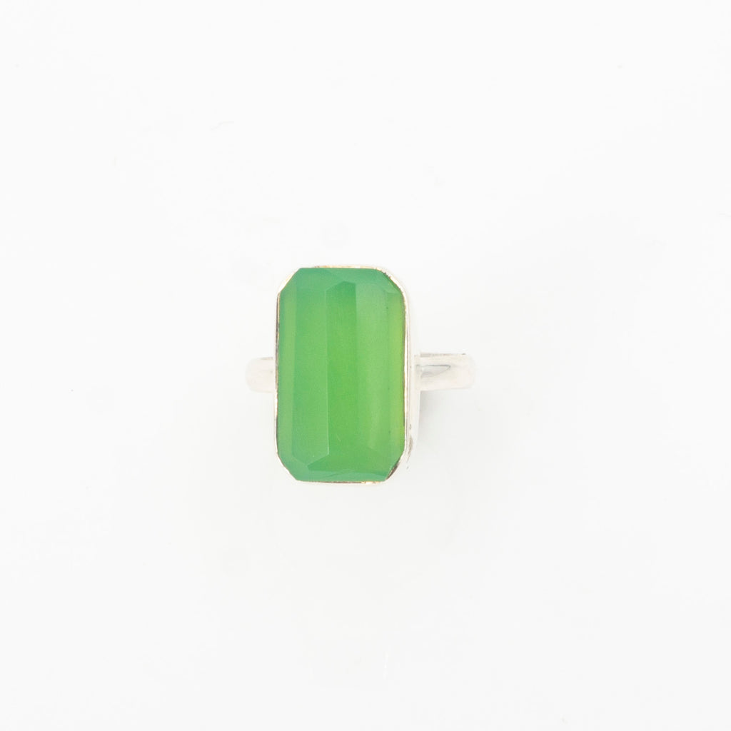 S/S Chrysoprase Ring 6.5