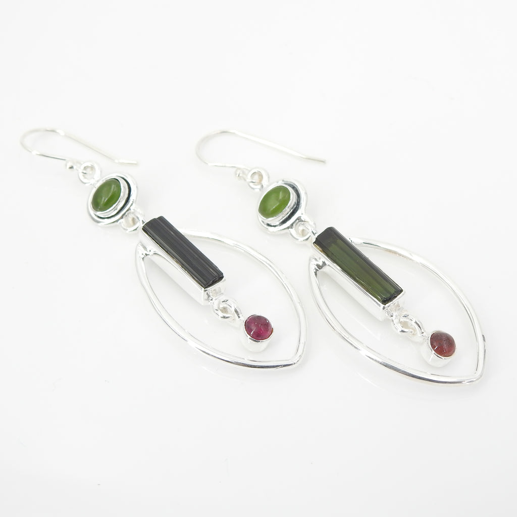 S/S Mixed Tourmaline Earring