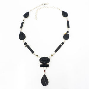 S/S Rough Onxy Tourmaline Necklace